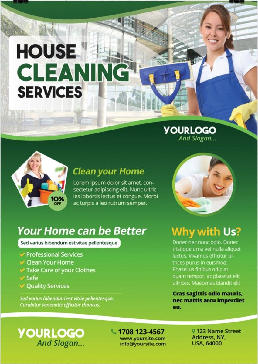 Cleaning Flyer Templates Free Download