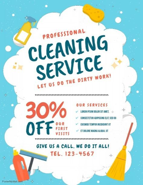 Cleaning Flyer Templates
