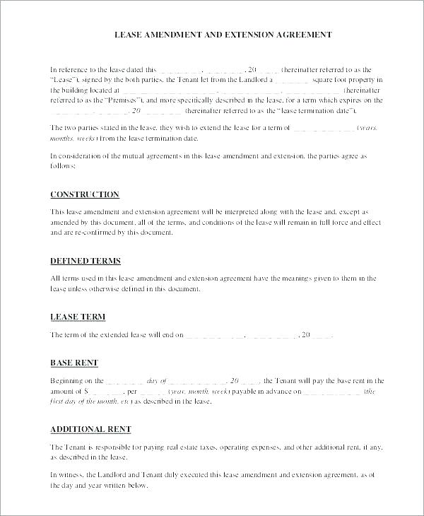 Commercial Lease Amendment Template