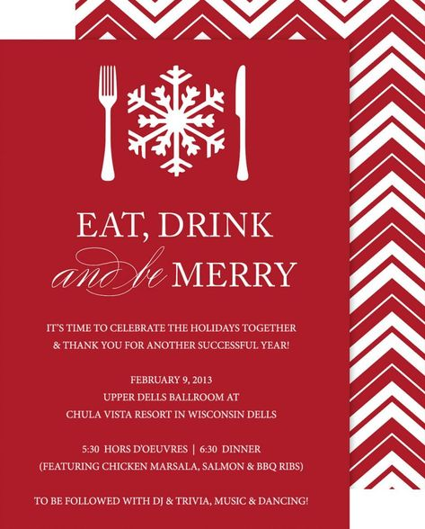 Company Christmas Party Invitations Templates