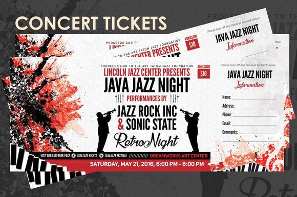 Concert Tickets Design Templates