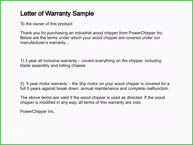 Construction Labor Warranty Template