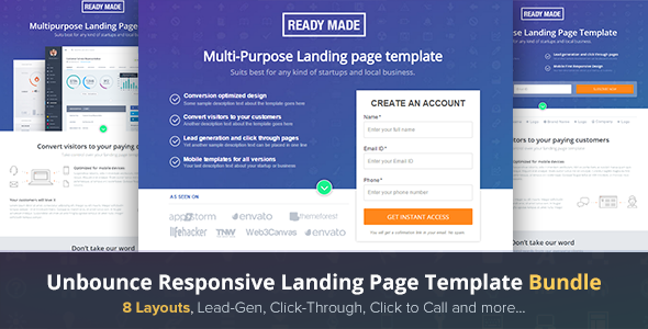 Conversion Landing Page Templates