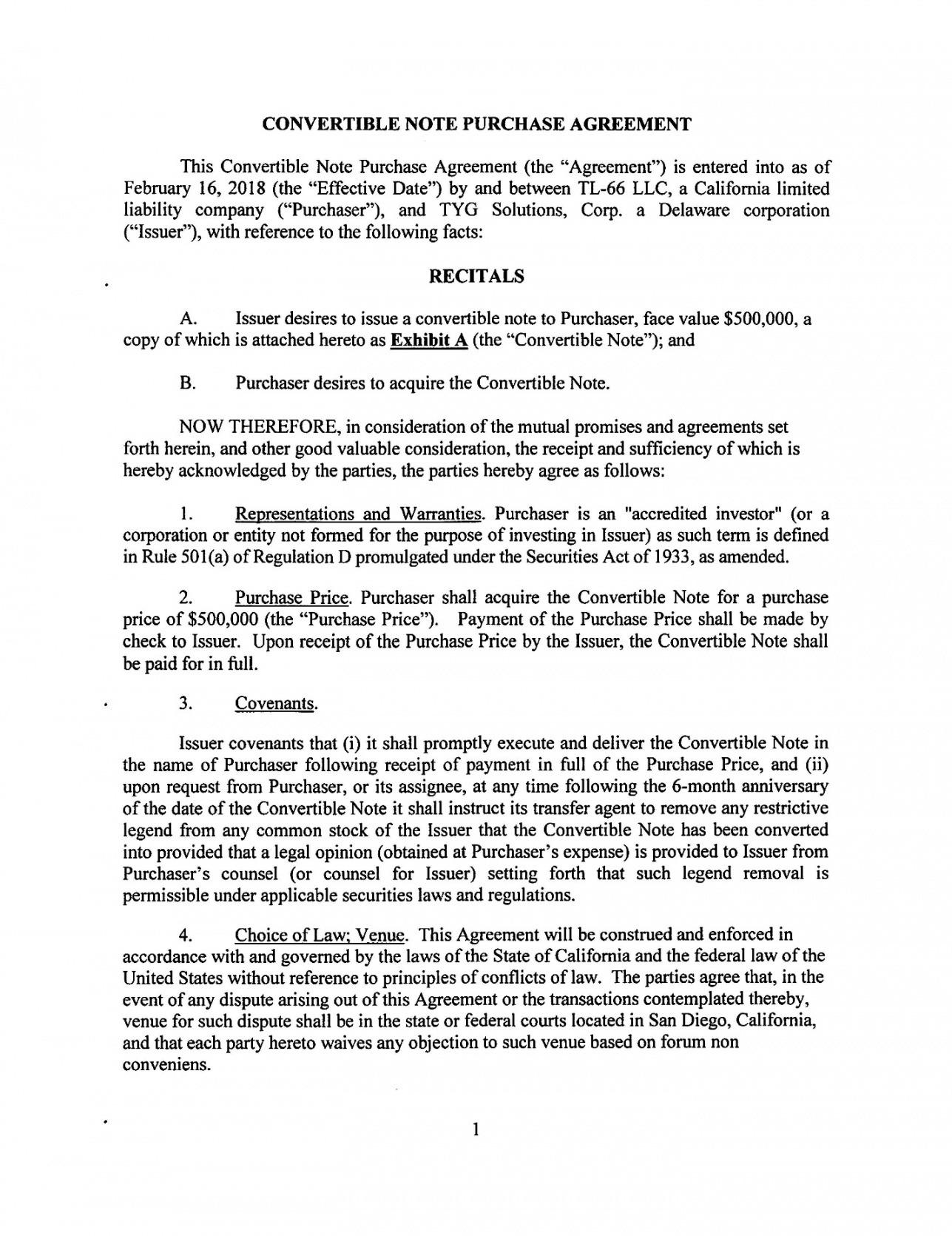 Convertible Loan Agreement Template