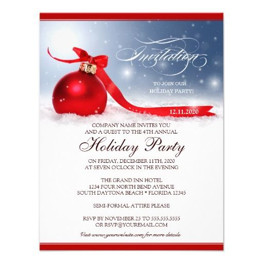 Corporate Christmas Invitation Templates