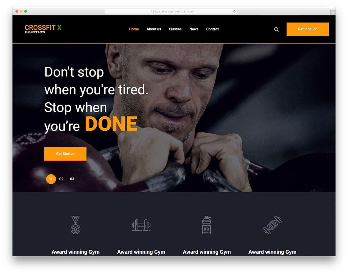 Crossfit Website Template