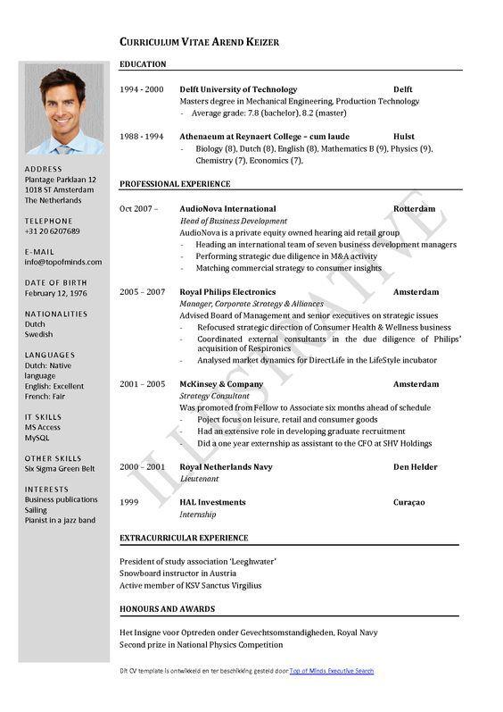 Curriculum Vitae Resume Template