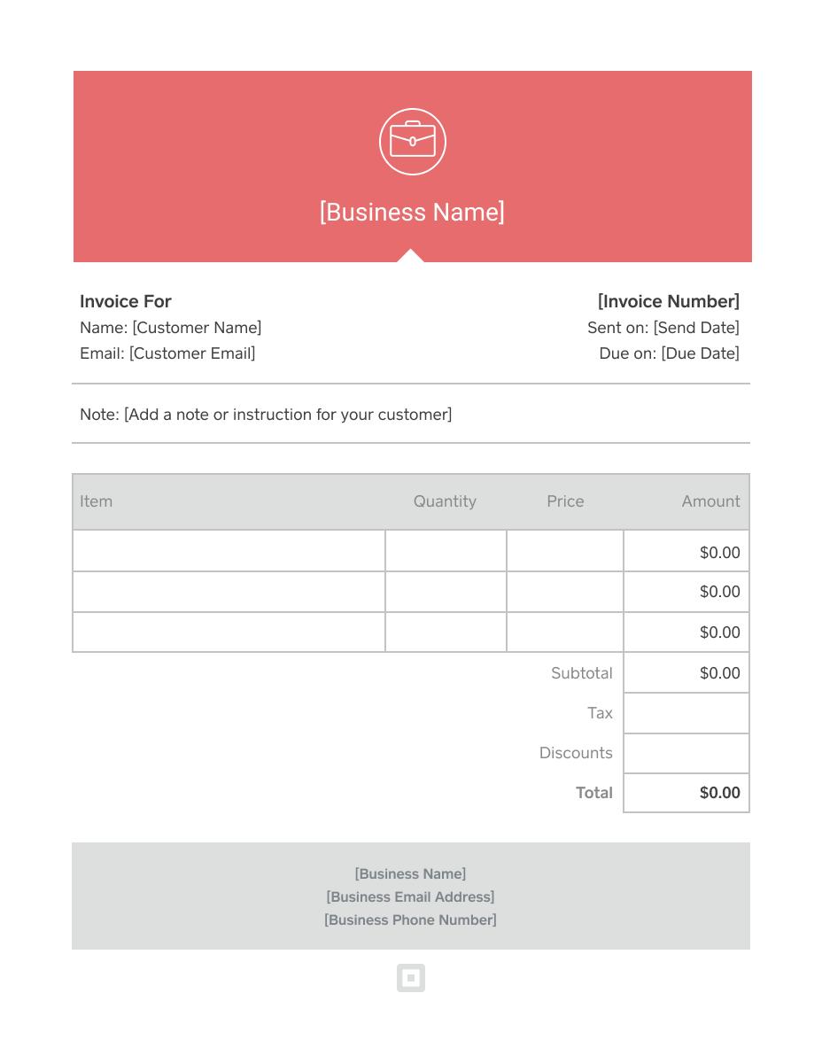 Custom Invoice Template Word