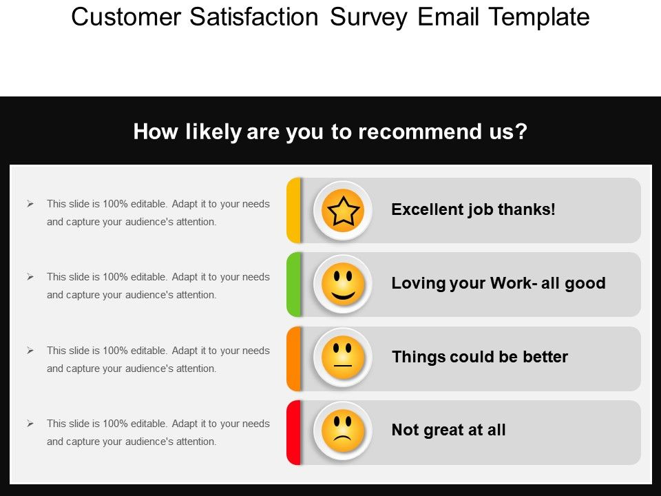 Customer Satisfaction Survey Email Template