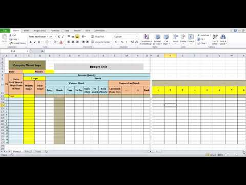 Daily Excel Sales Report Template