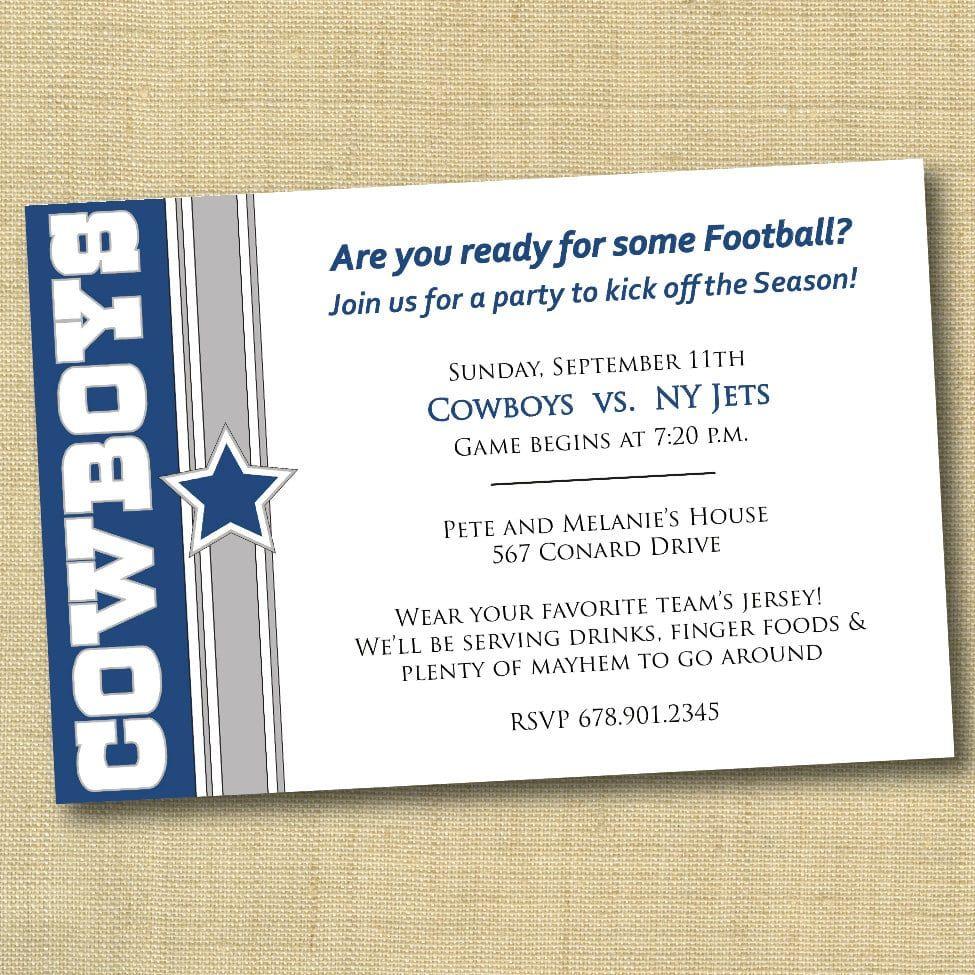 Dallas Cowboys Invitation Template