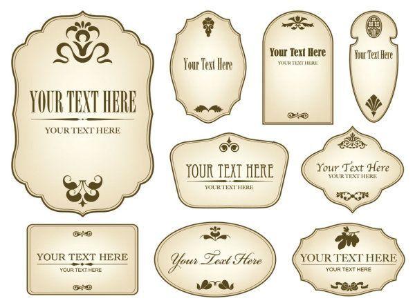 Decorative Label Templates Free