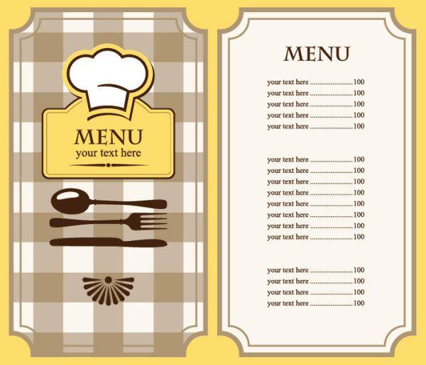 Diner Menu Template Free