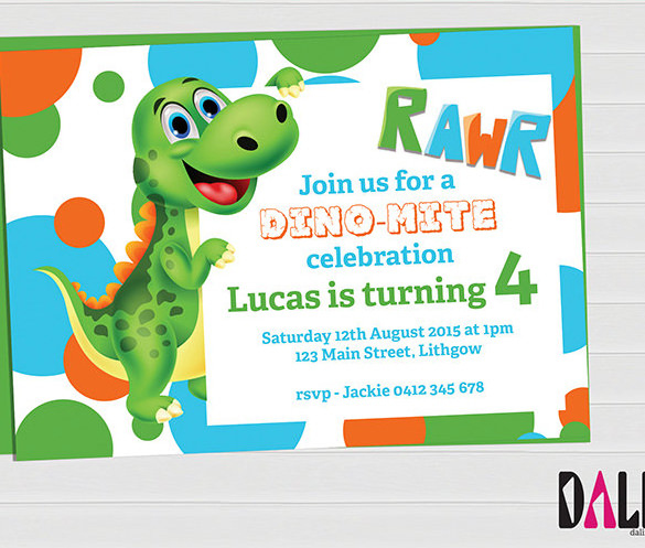 Dinosaur Birthday Invitation Template Inspiring 29 Dinosaur Boy Birthday Party Template ? Omg Photography