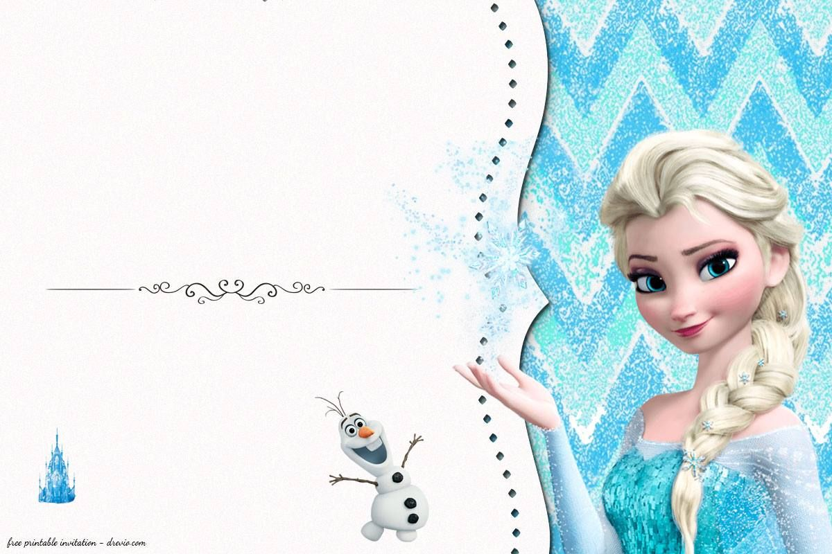 Disney Frozen Birthday Invitation Templates
