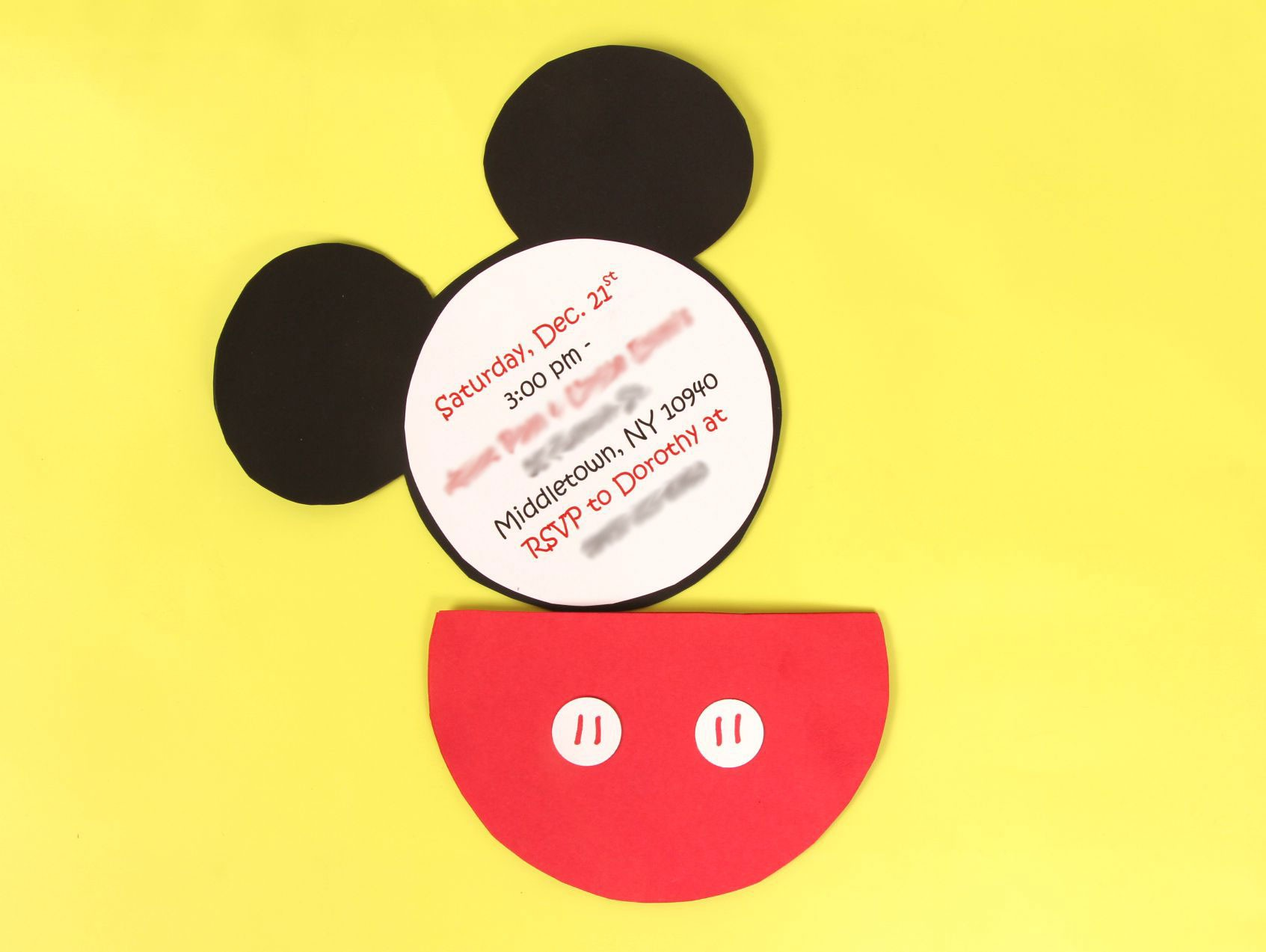 Diy Mickey Mouse Invitation Template