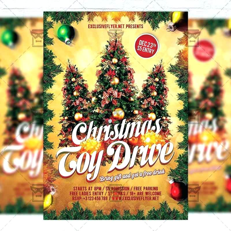 Donation Toy Drive Flyer Template Free