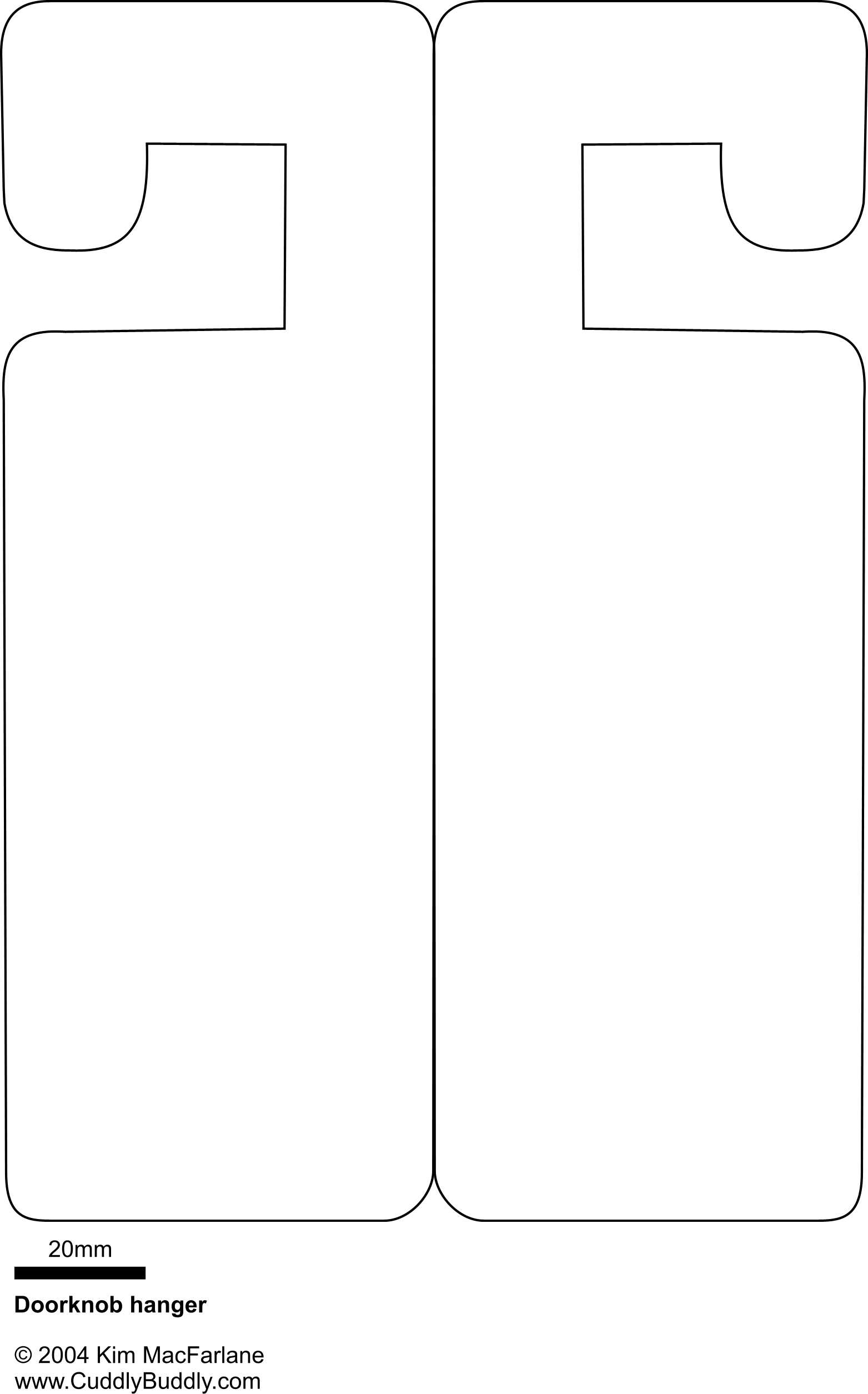 Door Knob Hanger Template Microsoft Word