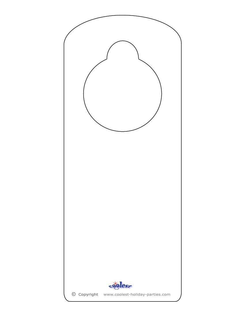 Doorknob Hanger Template