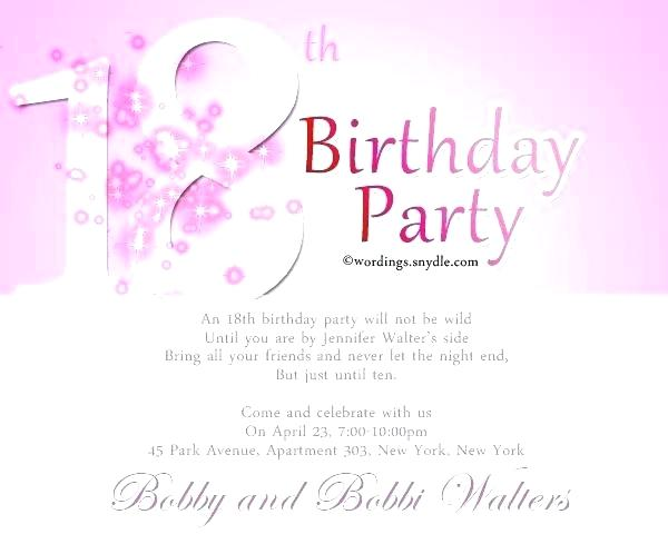Downloadable 18th Birthday Invitation Templates Printable Free
