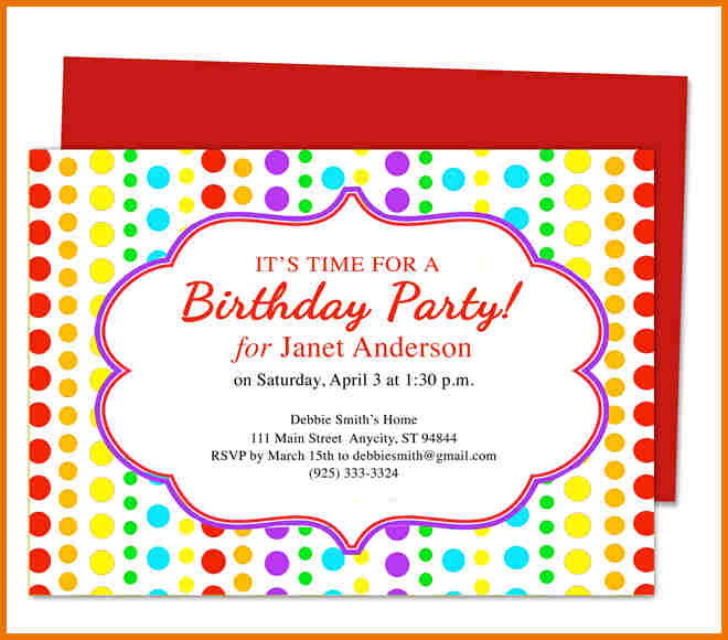 Downloadable Birthday Invitation Templates Word