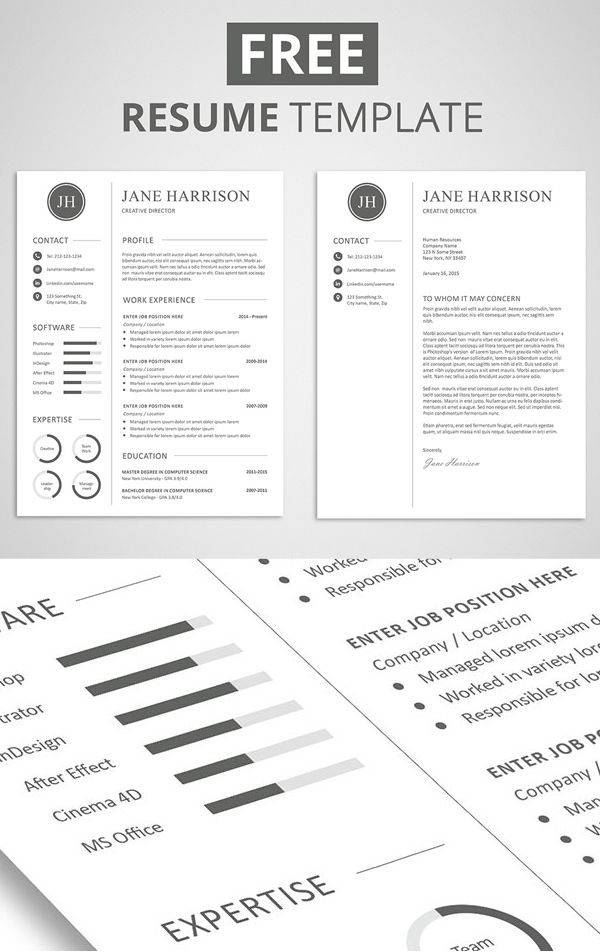 Downloadable Free Printable Cover Letter Templates