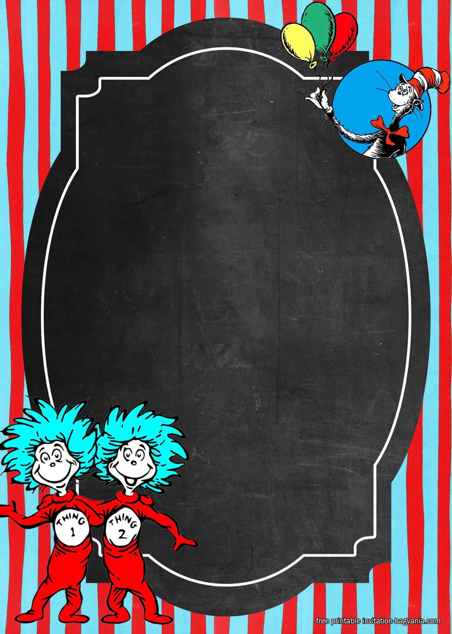 Dr Seuss Birthday Invitations Templates Free