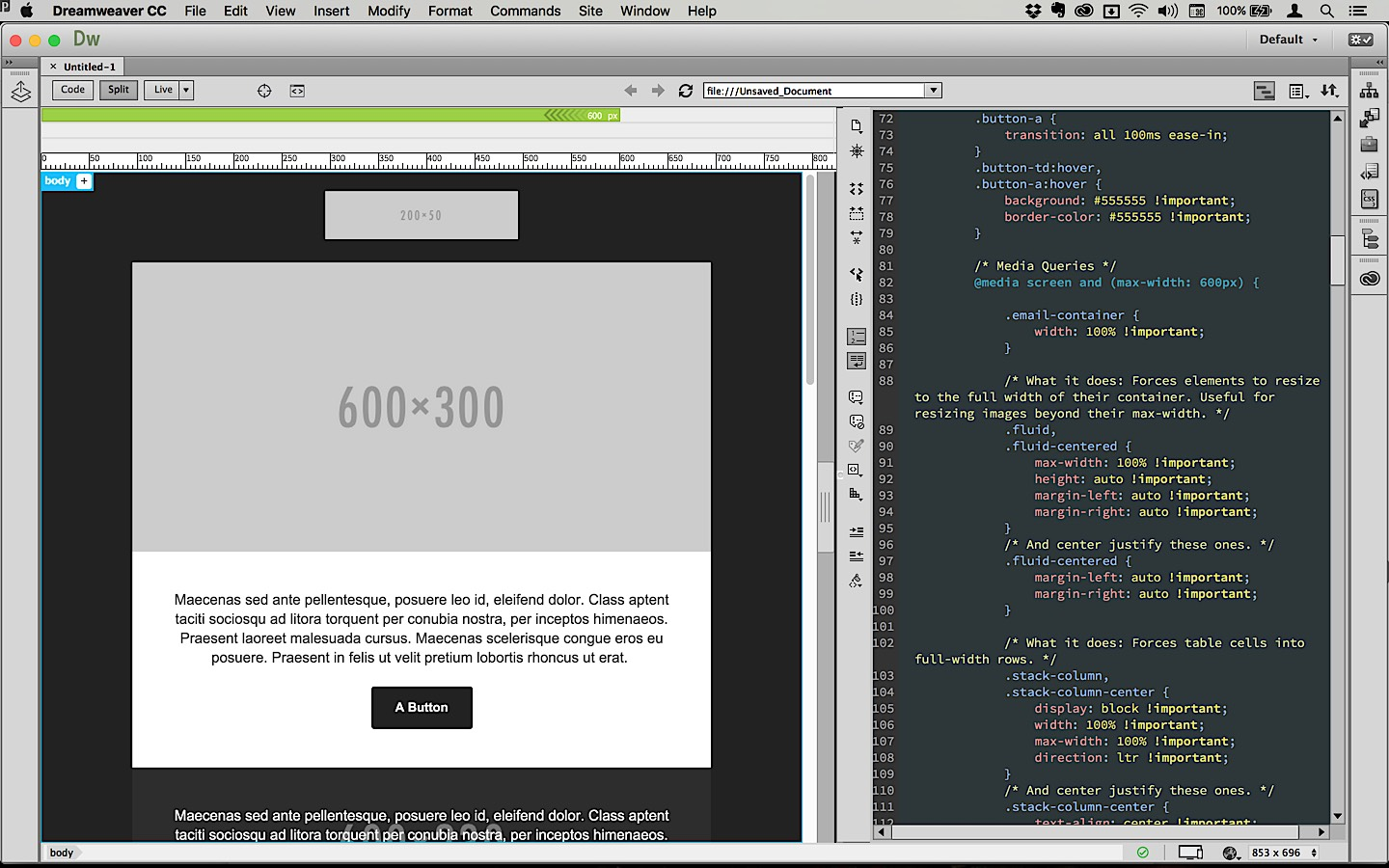 Dreamweaver Email Templates