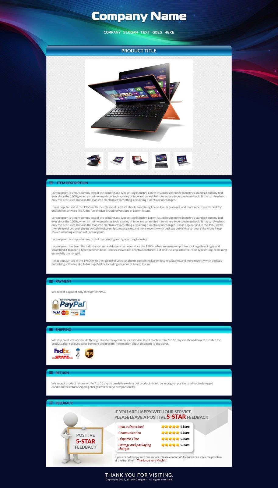 Ebay Auction Template