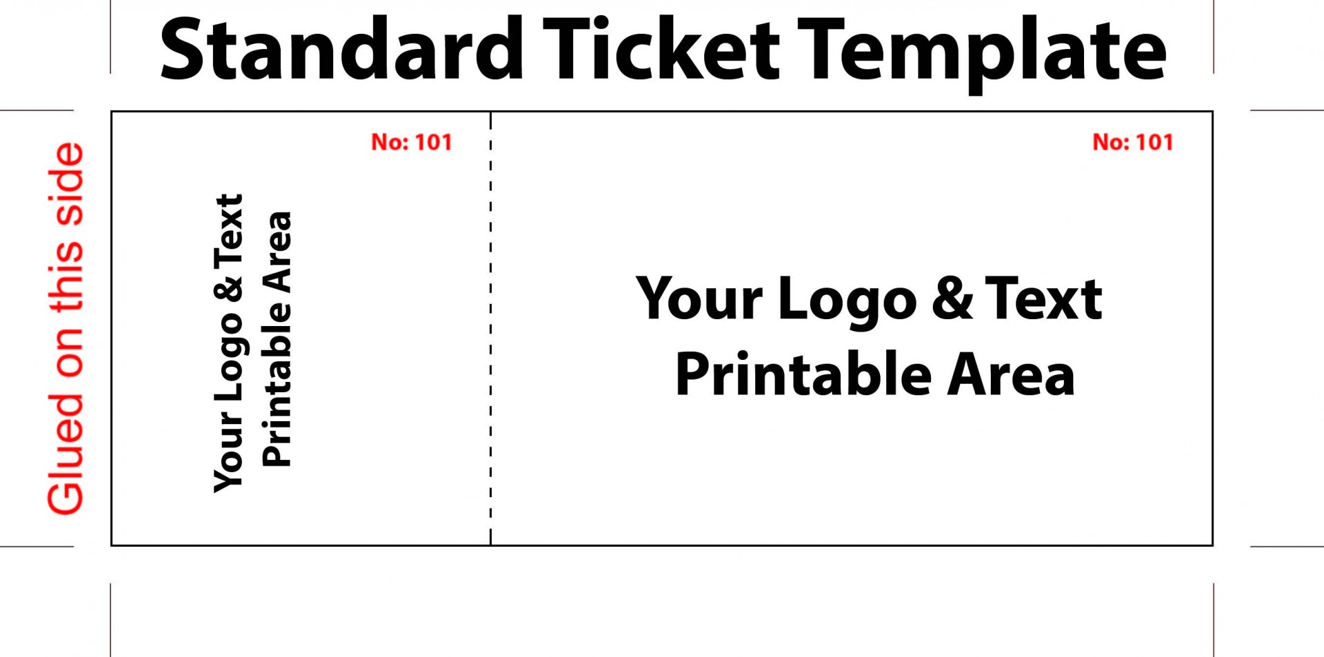 Editable Blank Concert Ticket Template