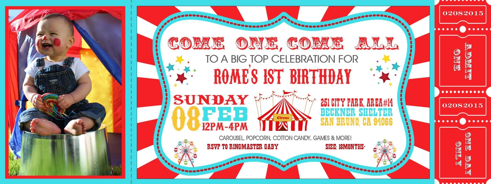 Editable Circus Invitation Template Free