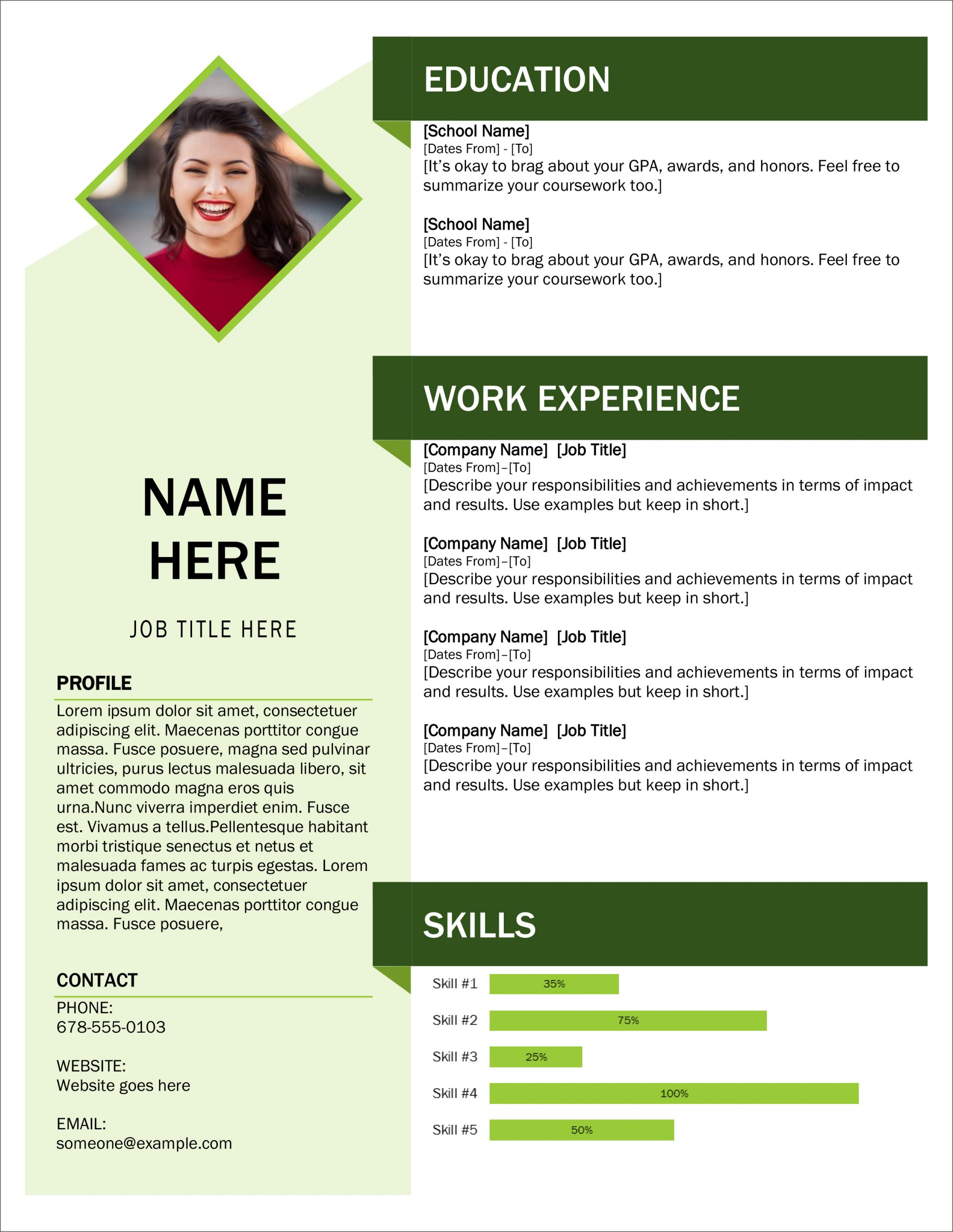 Editable Cv Templates Free Download Word Document