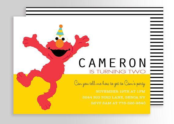 Editable Elmo Invitation Template
