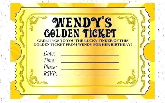 Editable Fancy Ticket Template