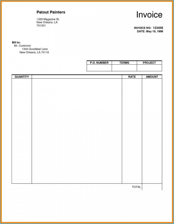 Editable Fillable Invoice Template Pdf