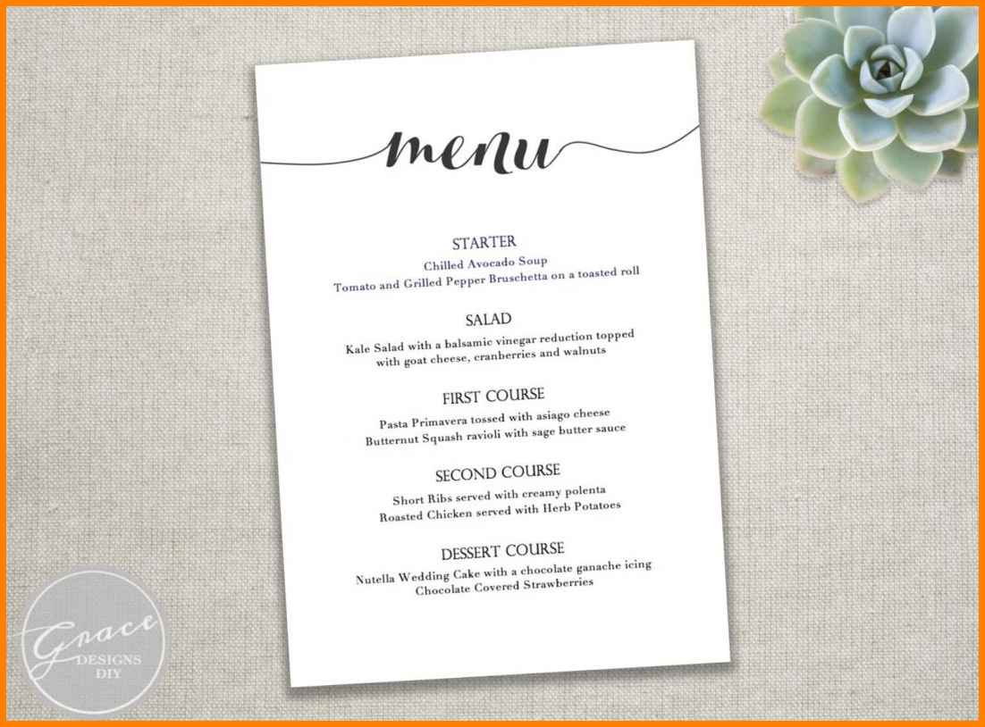 Editable Free Menu Templates