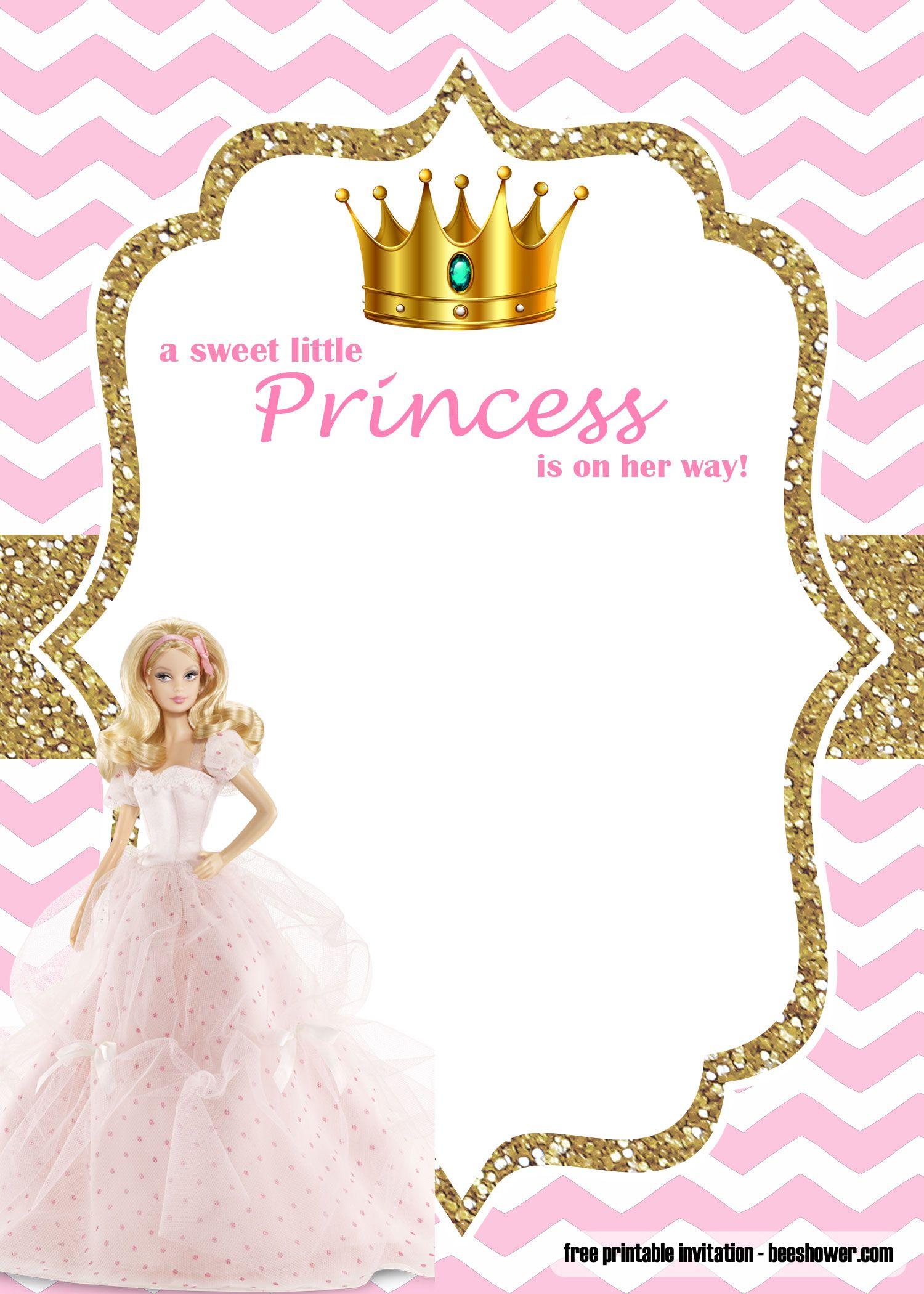 Editable Free Princess Invitation Template