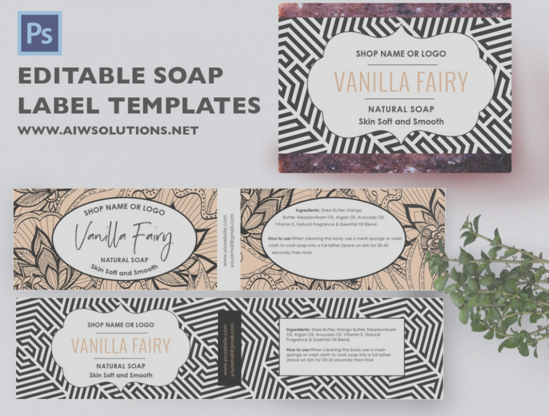 Editable Free Soap Label Templates