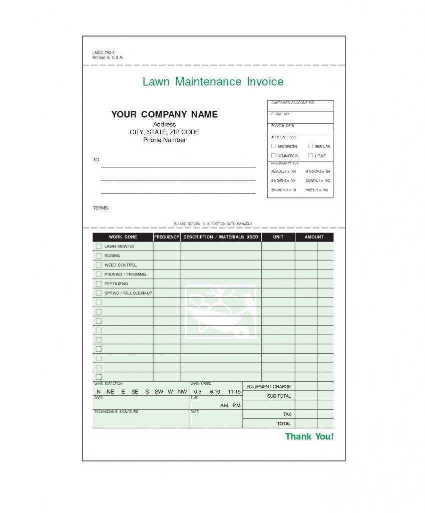 Editable Lawn Care Invoice Template
