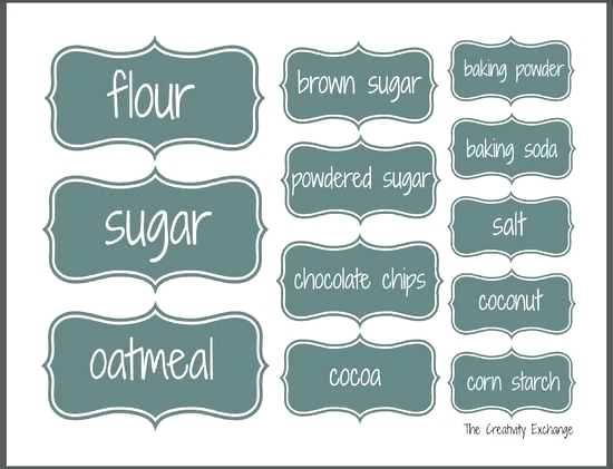 Editable Pantry Labels Template