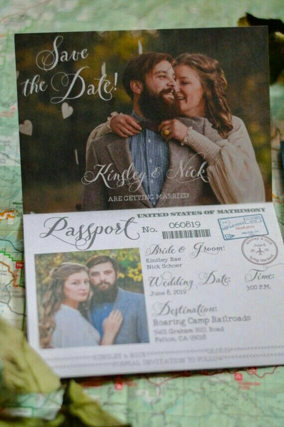 Editable Passport Wedding Invitation Template