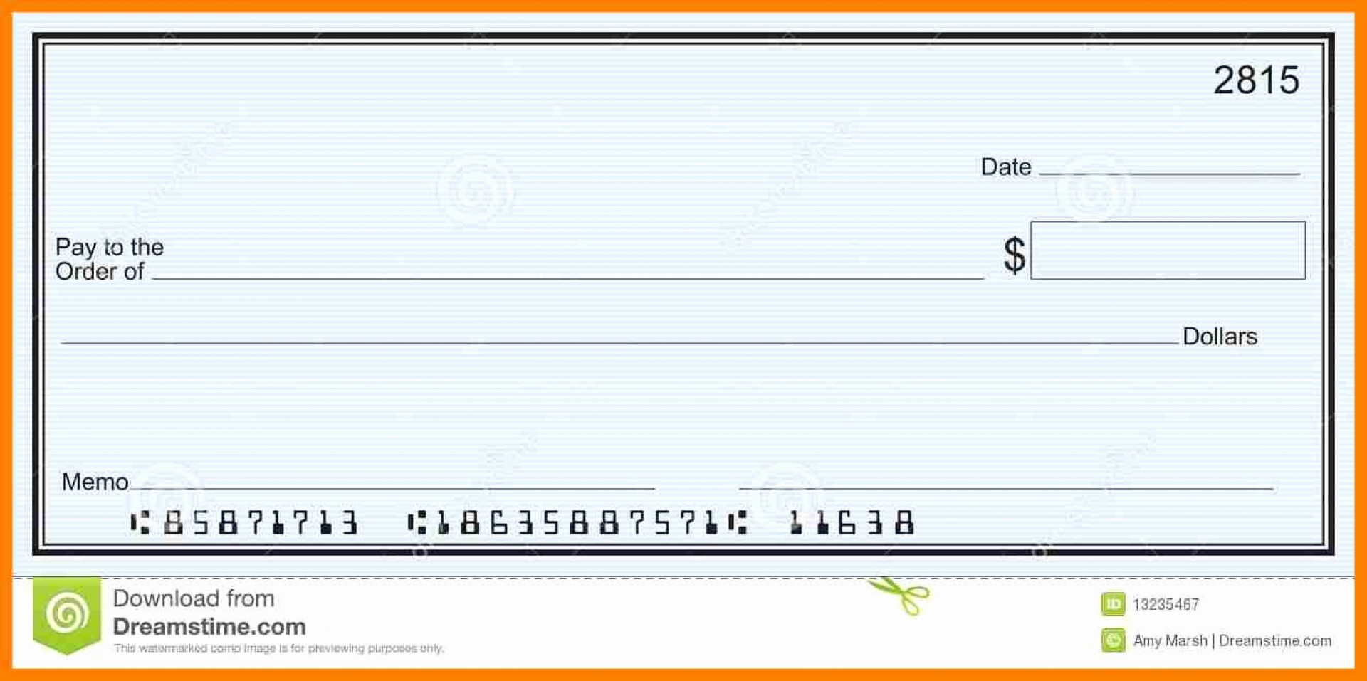 Editable Printable Blank Check Template