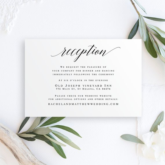 Editable Wedding Reception Invitation Templates