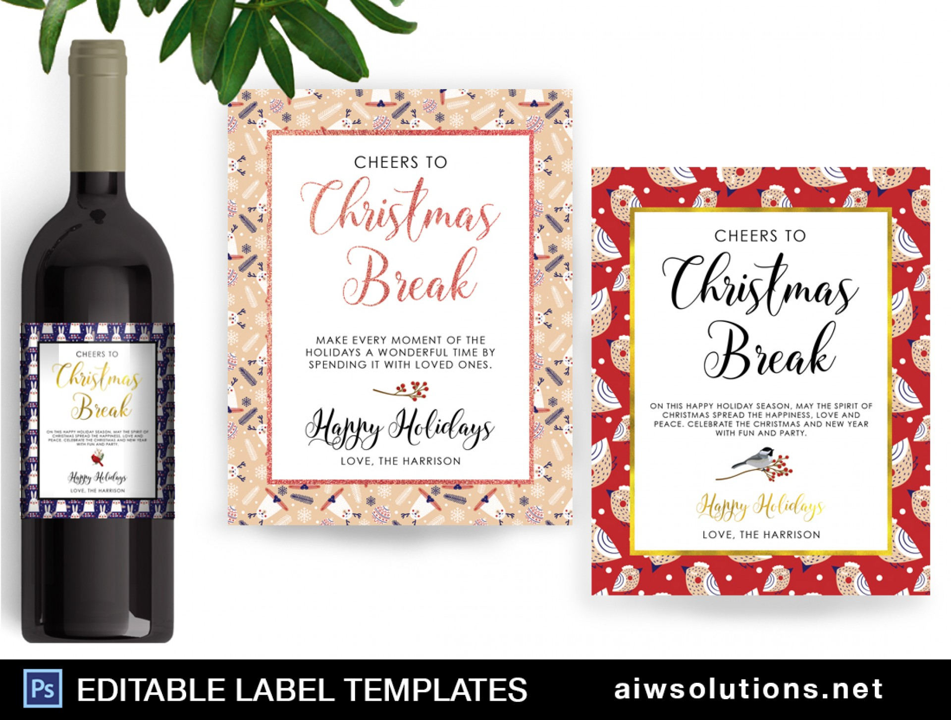 Editable Wine Label Template Word