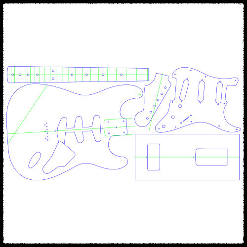 Electric Guitar Routing Templates