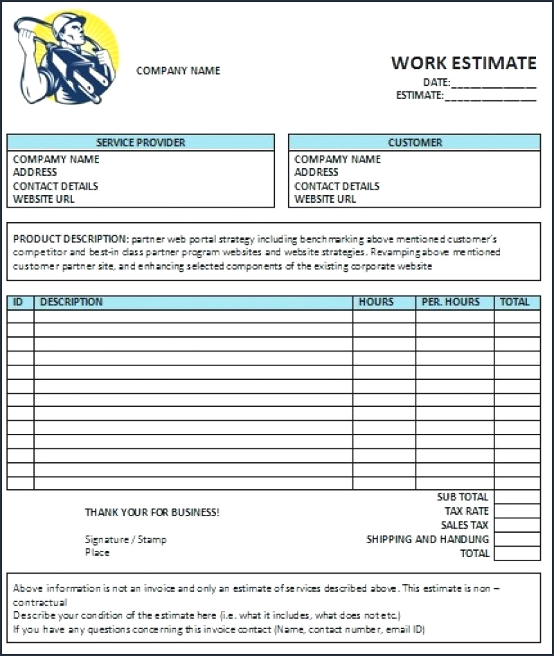 Contractor Invoice Template Pdf From Electrician Invoice Template Image 1 Electrical Contractor Invoice