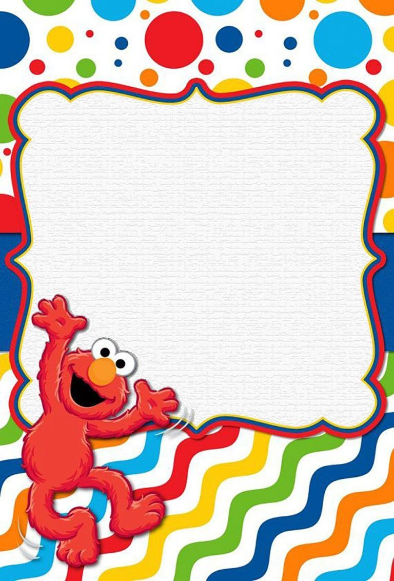 Elmo Invitation Template Free