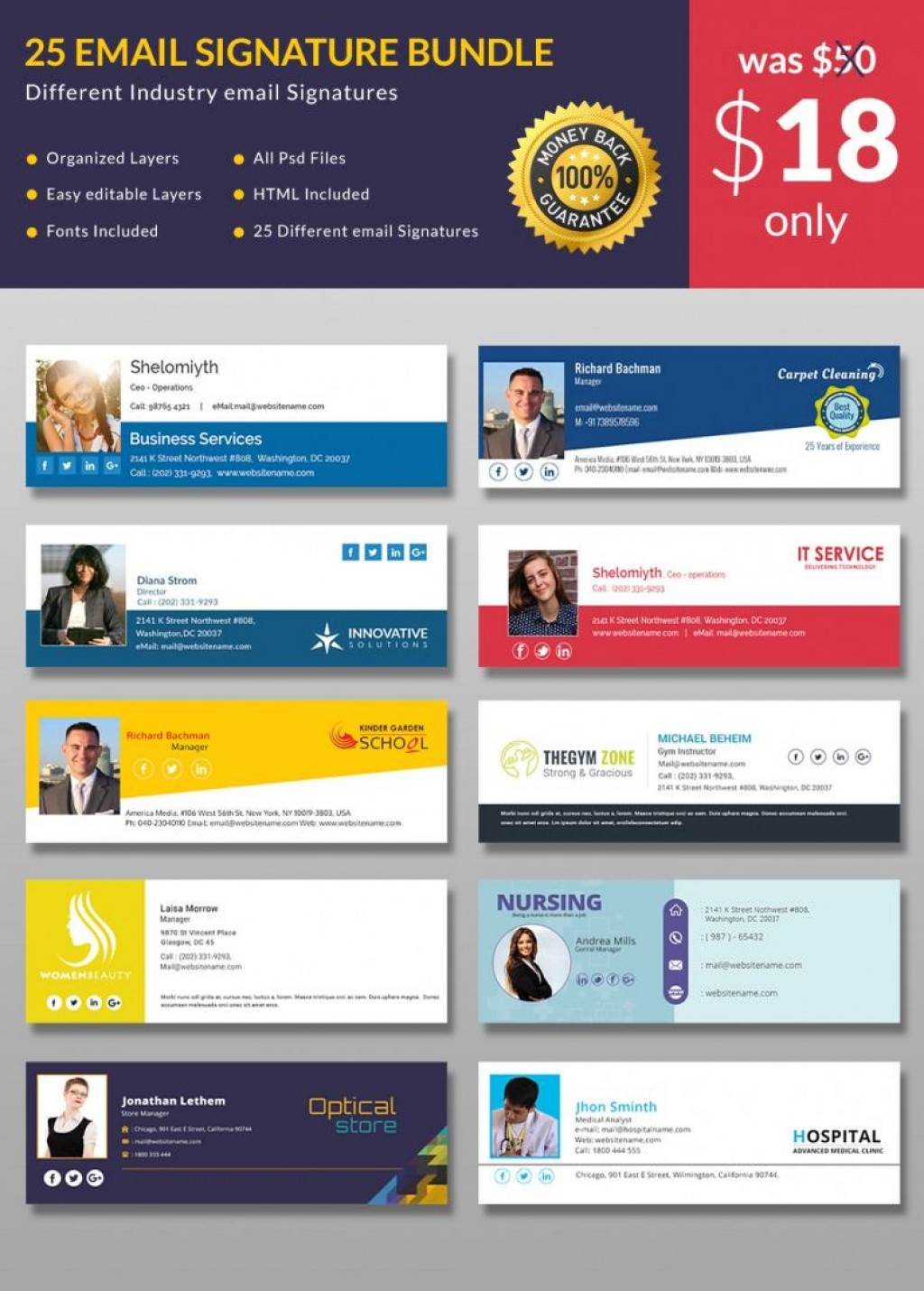 Email Signature Psd Templates Free Download