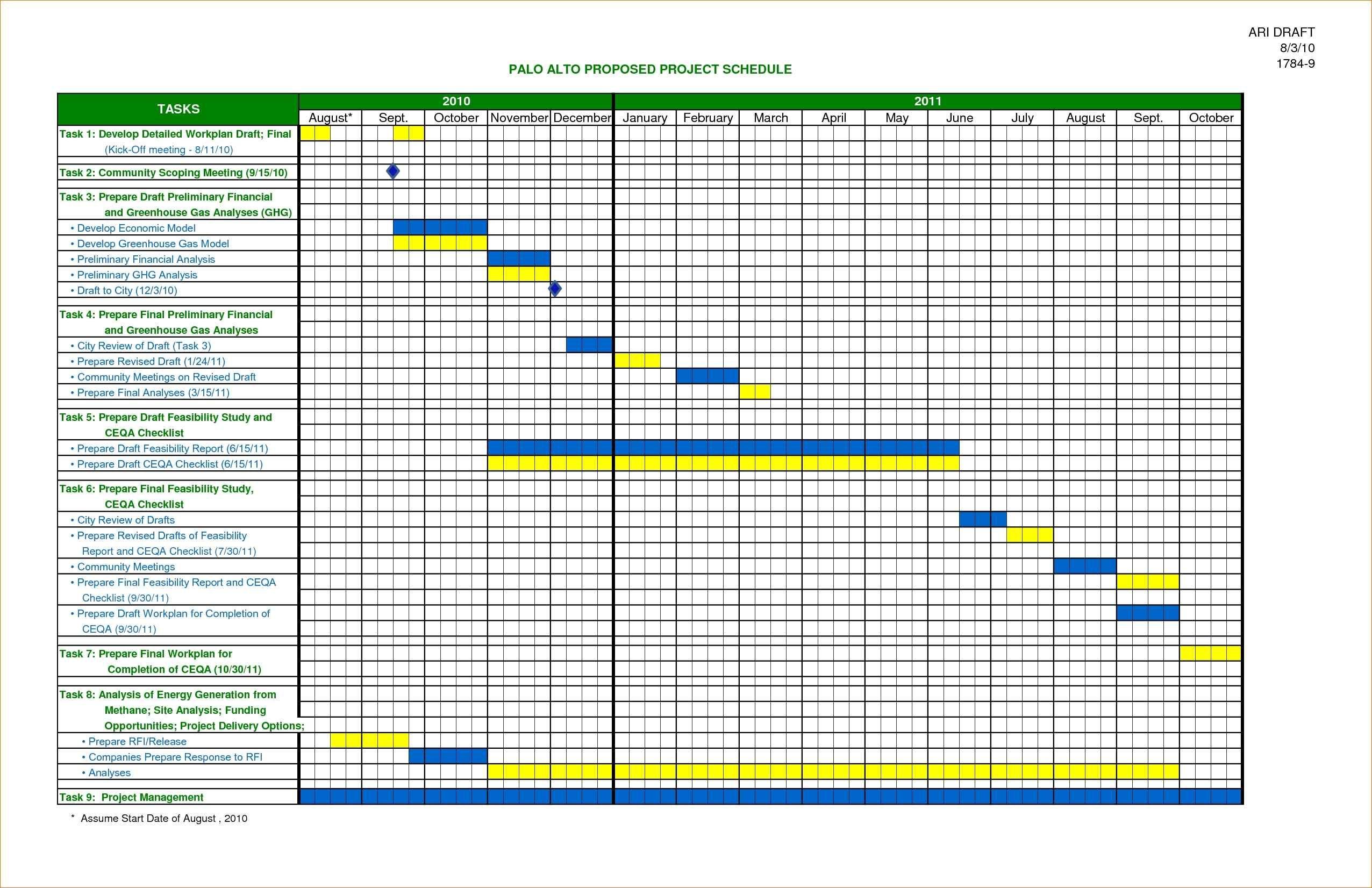 Employee Excel Monthly Schedule Template