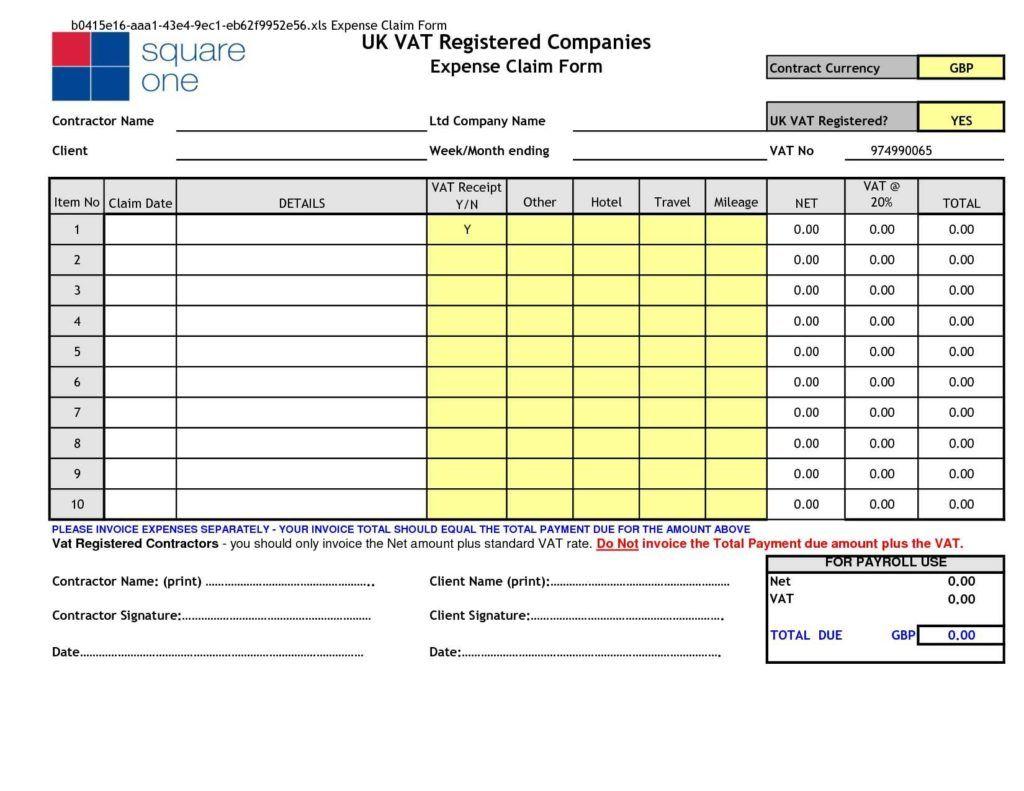 Employee Expense Reimbursement Template